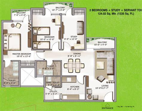 study room floor plan 3c lotus zing floor plan 2bhk study room servant room 1335