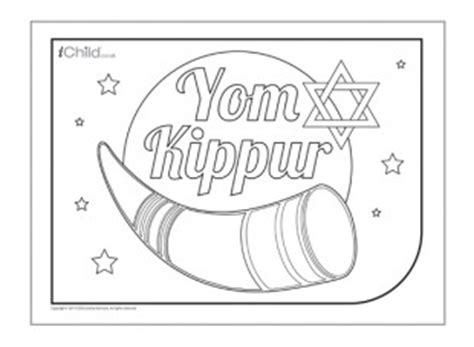 coloring pages for yom kippur yom kippur colouring in picture ichild