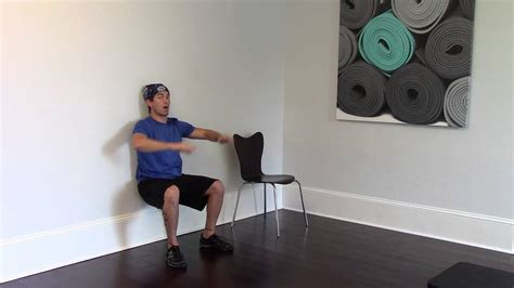 wall squat exercise youtube