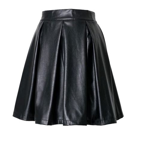 custom made faux leather skirts pencil pleated and flare