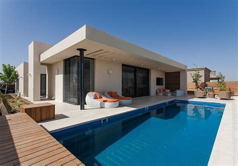 Concrete Homes Plans simple pool family home in israel