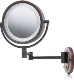 Lighted Bathroom Mirrors Magnifying Lighted Magnifying Makeup Mirror Bed Bath Beyond Home Design Ideas