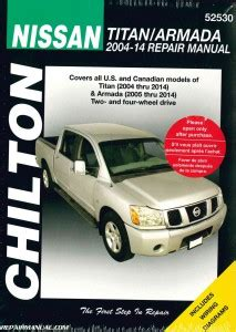 manual repair free 2004 nissan titan auto manual chilton 2004 2014 nissan titan 2005 2014 nissan armada auto repair manual