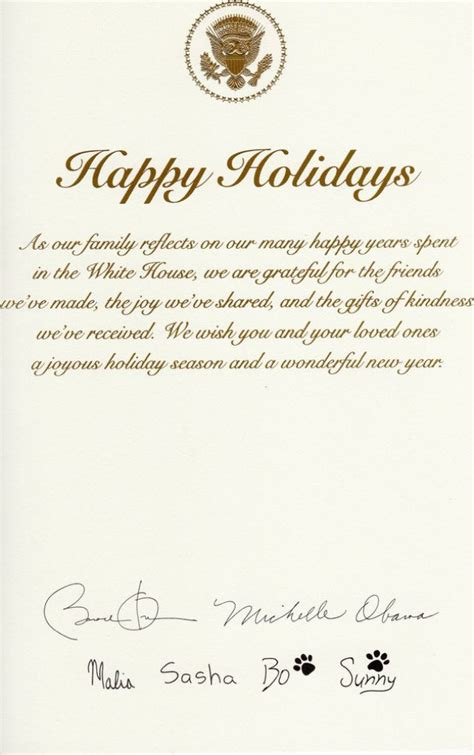 obama familys christmas card doesnt mention