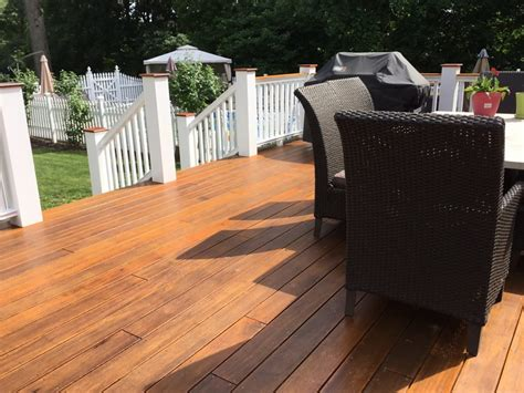mahogany decking mahogany deck refinishing project in mount tabor monk s