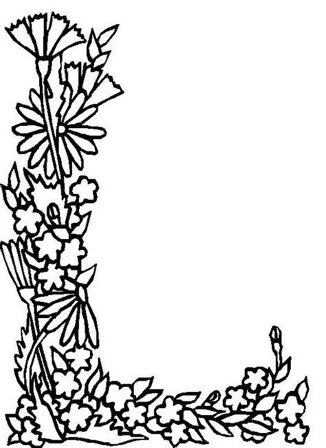 Letter L Coloring Pages Print by Alphabet Flowers Letter L Coloring Pages The Coloring