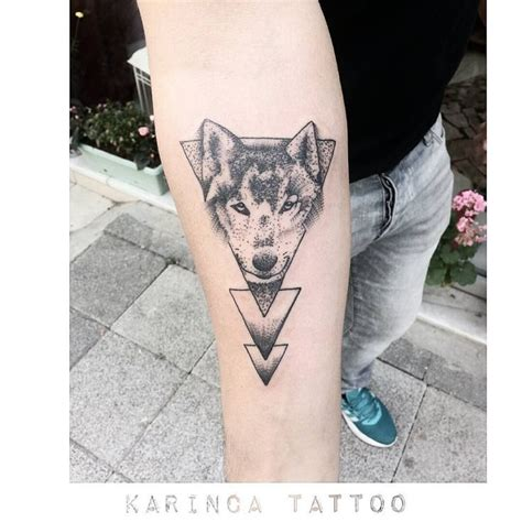 tattoo wolf instagram geometric tattoo geometric wolf tattoo on the arm www