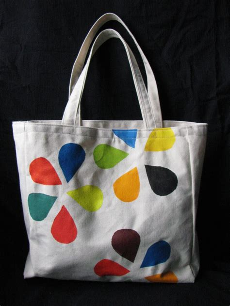 acrylic paint on canvas bag 1000 images about canvas totes on muslin bags