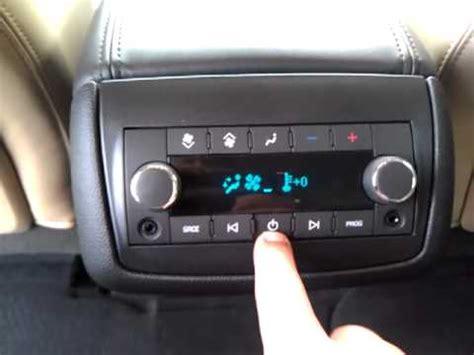 chevy traverse radio, rear seat controls youtube