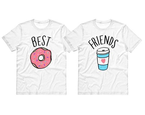 t shirt layout for best friends best friends donut and coffee duo t shirt by