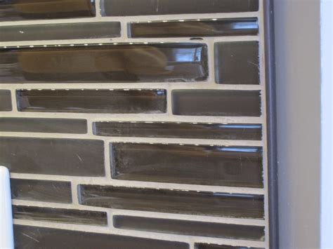backsplash edge trim glass mosaic kitchen back splash