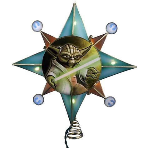 star wars clone wars yoda lighted tree topper
