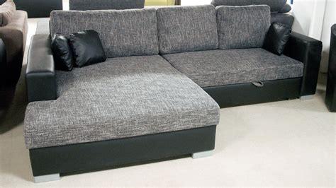 sofa mit ottomane und schlaffunktion ecksofa flamenco schlaffunktion schwarz grau ottomane links