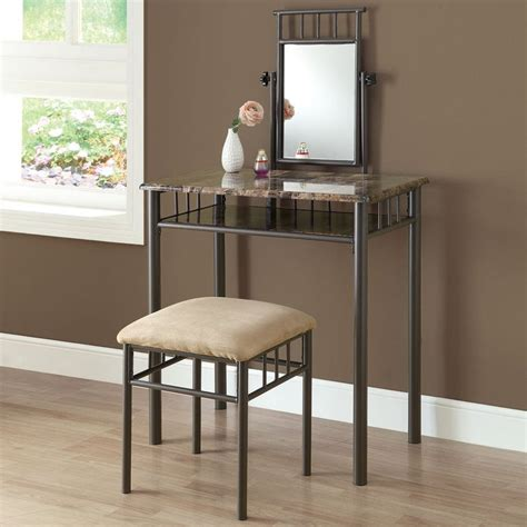 a new set of bedroom plan vanities for your house anekarts com shop monarch specialties cappuccino makeup vanity at lowes com