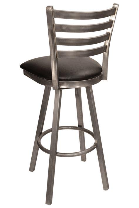 Reclaimed Wood Swivel Bar Stools by Gladiator Clear Coat Ladder Back Swivel Bar Stool W