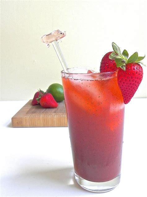 martini strawberry strawberry cilantro cocktail the good eats company