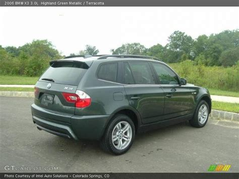 2006 bmw x3 3 0i 2006 bmw x3 3 0i in highland green metallic photo no