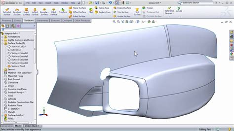 solidworks pattern of bodies solidworks surfacing to create fsae body work part 2