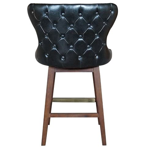 black leather tufted bar stools dancy masculine black leather tufted swivel