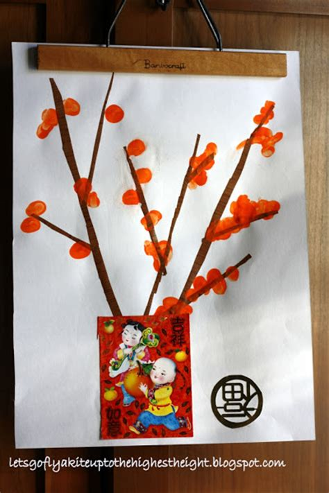 chinese  year thumbprint craft lesson plans