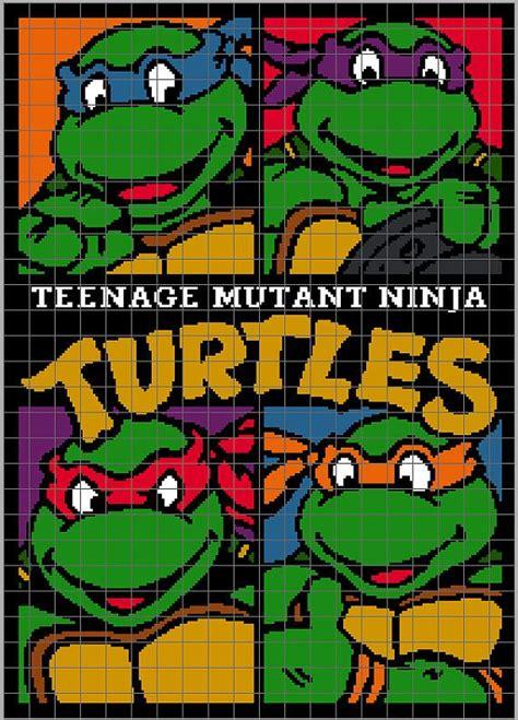 pattern for ninja turtle face teenage mutant ninja turtles crochet blanket design
