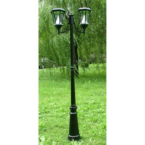 gama sonic solar powered l post led l post light