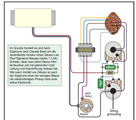 gibson epiphone bass guitars wiring diagrams