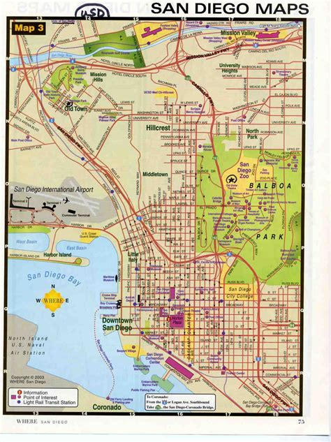 maps san diego san diego map