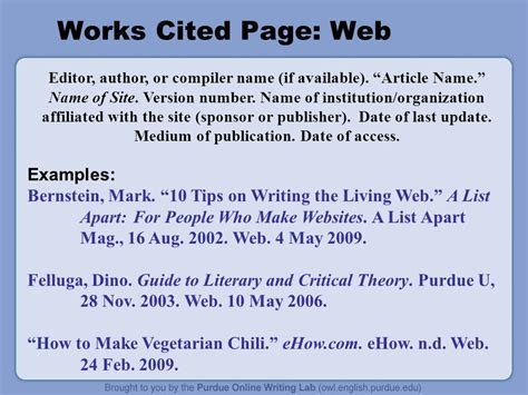 Works Sited How To Cite A Book Excerpt From A Website Mla Choice Image