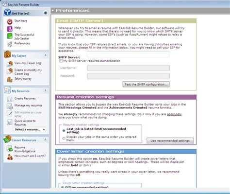 Resume Builder Software by Image Gallery Easyjob Resume