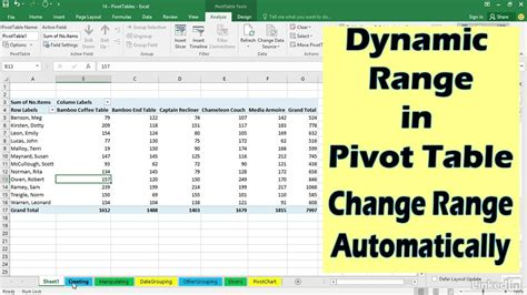 how to update pivot table how to update pivot table range review home decor