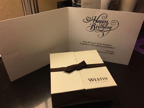 Surprise Westin Birthday Present   Points Miles & Martinis