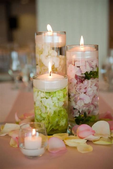 Cylinder Vases With Floating Candles And Flowers by Pin By Clark On Candles In 2019 Candles Wedding