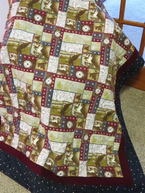 Americana Quilt by Americana Quilt Throw Stadium Blanket Usa Eagle