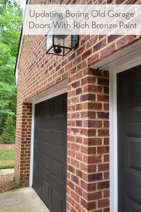 What Color To Paint Garage Door Painting Our Garage Doors A Richer Deeper Color House