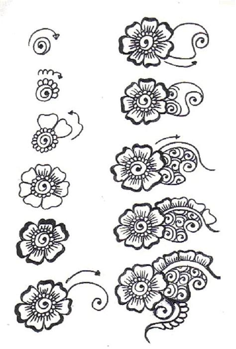 Gallery For Gt Zentangle Flower Patterns Step By Step