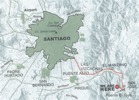 santiago chile map image gallery santiago chile map