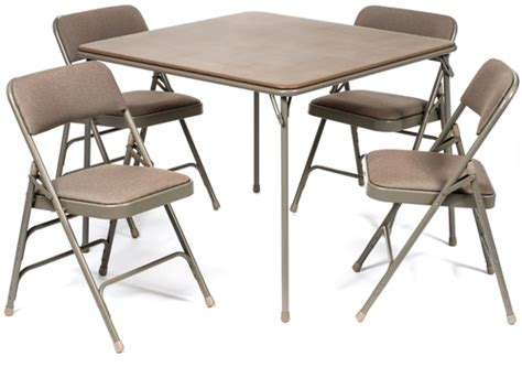 card table with 4 padded chairs 5pc xl series folding card table and fabric padded chair