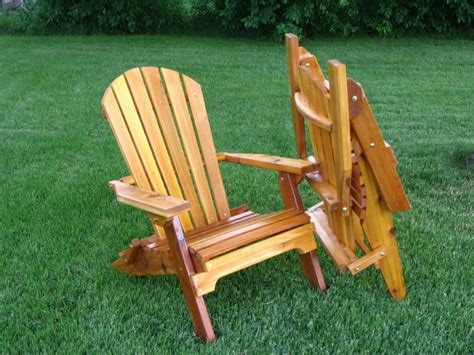 amish  folding adirondack chair ebay