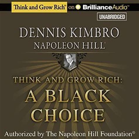 think and grow rich a black choice audiobook by dennis kimbro read by j d jackson