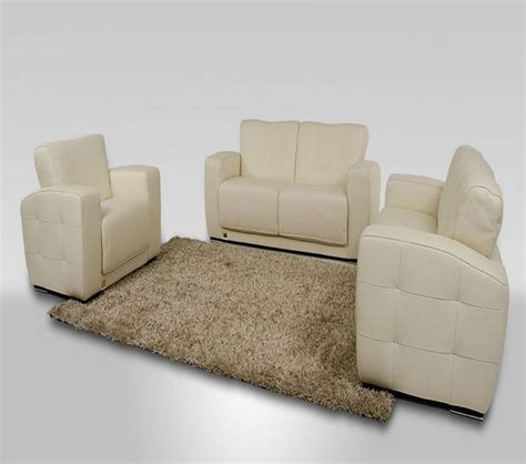 White Italian Leather Sofa Dreamfurniture Synfony Modern White Italian Leather Sofa Set