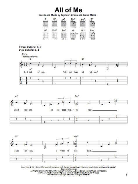 tutorial guitar all of me all of me by frank sinatra easy guitar tab guitar