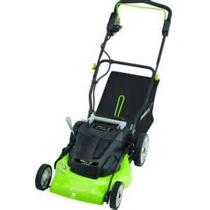 home depot lawnmowers earthwise 20 in rechargeable cordless electric lawn mower