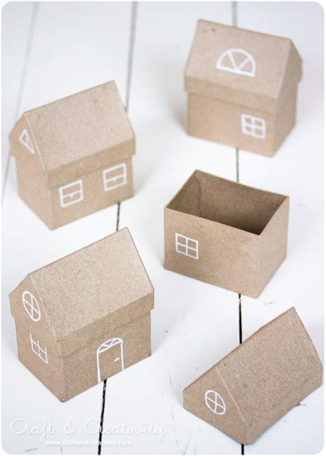How To Make A Small Paper House - make a small town of house boxes i did that with cereal