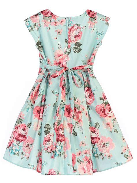 Dress Flower mint floral crossover dress