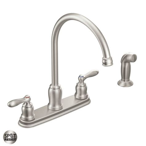 kitchen faucet with side spray moen ca87060srs spot resist stainless high arc kitchen