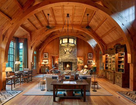 wood fishing lodge sleeping cabin  rustic interior detailing idesignarch interior design