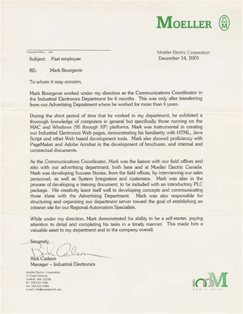Recommendation Letter Marketing Bourgeois Letters Of Recommendation