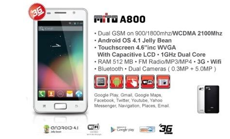 Battery Mito 800 mito a800 and specification ahtechno