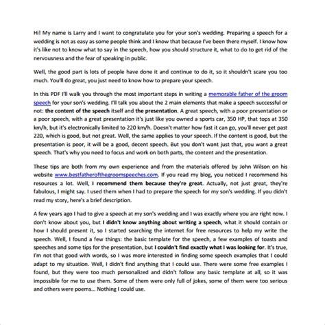 8 Wedding Speech Exles Pdf Sle Templates Groom Speech Template